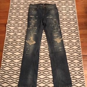 D&G Distressed Straight Leg Jean